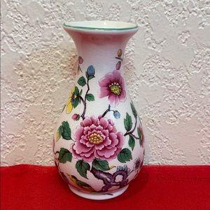 "Vintage James Kent Mini Vase ""Chinese Rose"""
